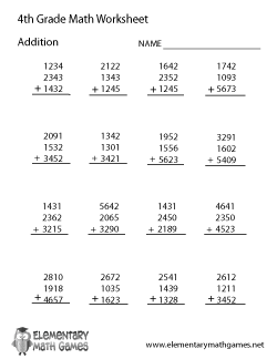 math worksheet : fourth grade math worksheets : Algebra Addition Worksheets