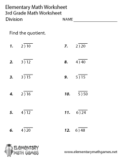 Our Free 3rd Grade Math Worksheets – Multiplication, Division, and ...